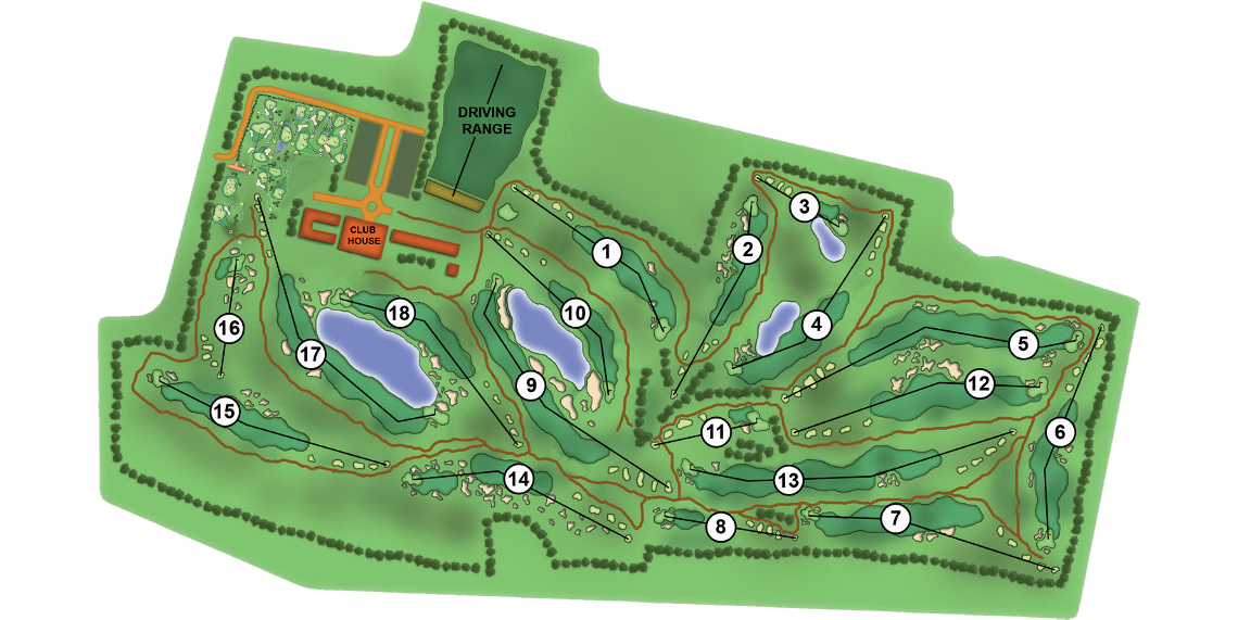 Golf course's map